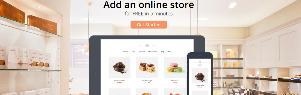 Web 2.0 Promotions Shopping Cart By Ecwid