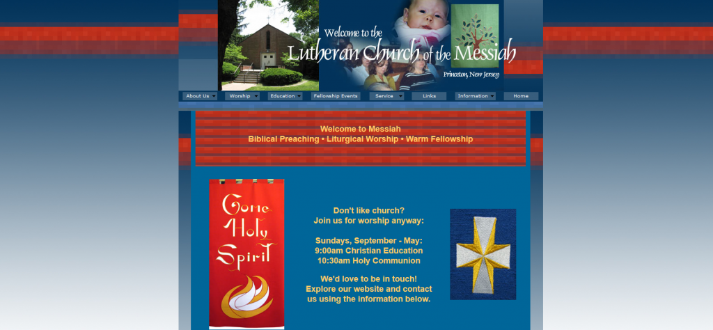 Web 2.0 Promotions Princeton lutheran church